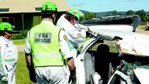 SERVING COMMUNITY: The Mudgee Volunteer Rescue Squad held their annual general meeting on Monday. Members of the Squad are pictured during a rescue demonstration for the Starline Cruisers earlier this year.
