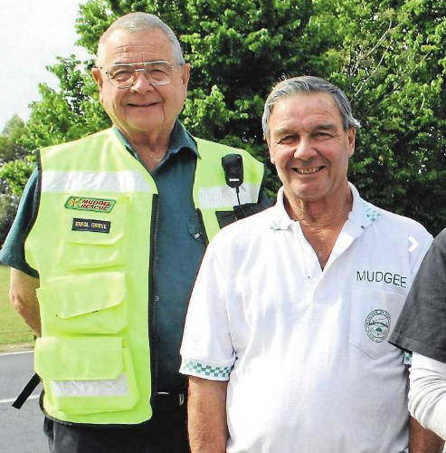 Long serving members of the Mudgee Volunteer Rescue Squad, Errol Grieve and Geoff Hawes, said volunteering is about giving back to the community.